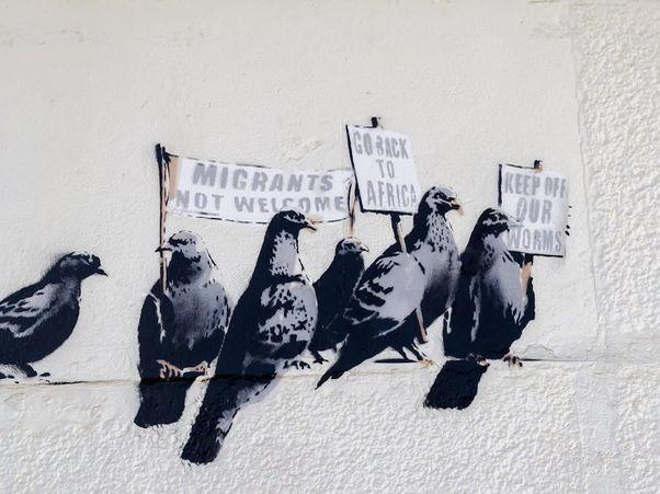 Art and Design: Clacton Pigeon Mural - Banksy (Year 5)