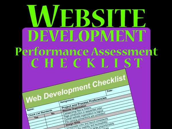 WEBSITE Development Performance Assessment for Assignments > CHECKLIST & RUBRIC