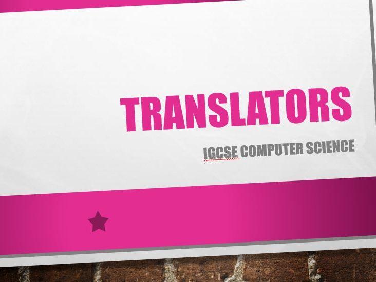 High and Low Level language translators - GCSE Computer Science