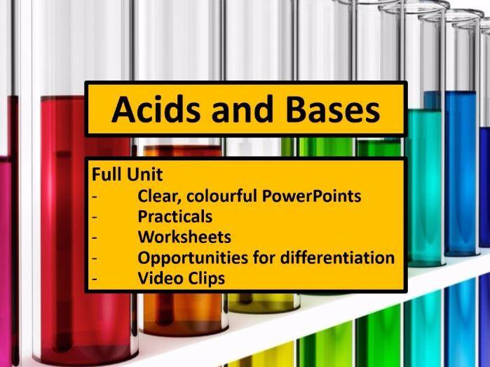 KS3 Acids and Bases Full Unit