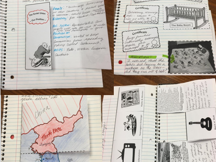 Cold War Unit Foldable & Interactive Notebook Collection Activities
