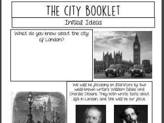 The City Booklet: Exploring Victorian London (KS3)
