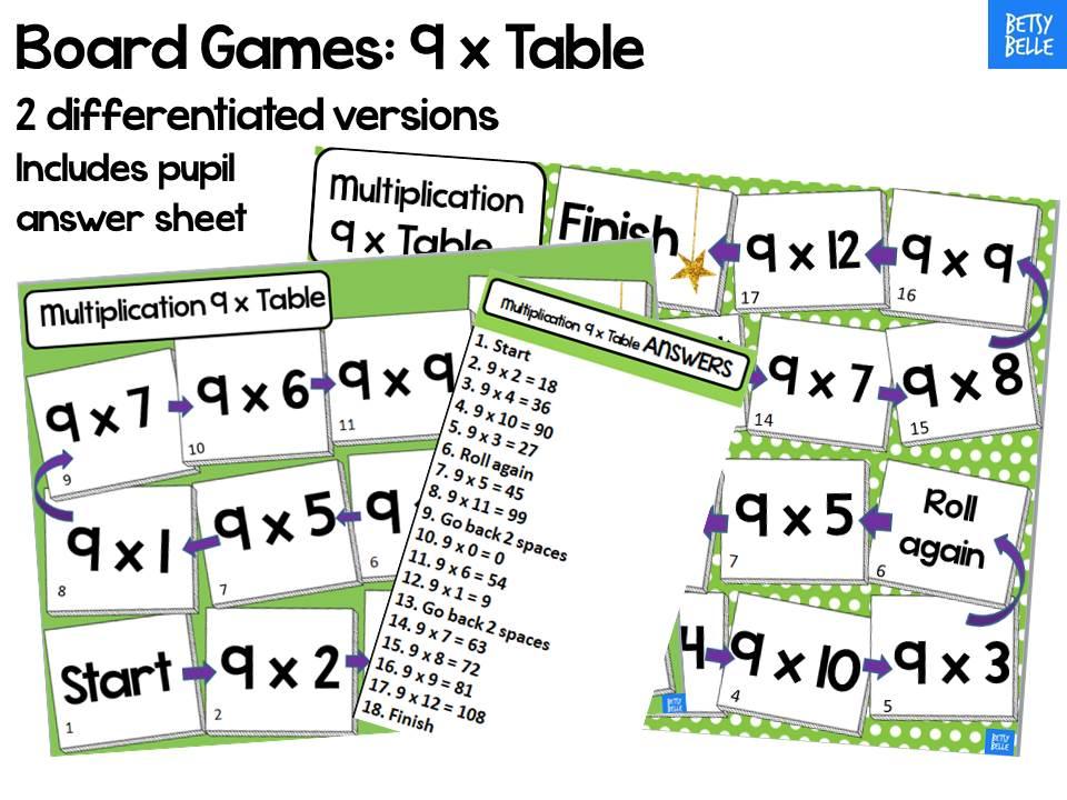 9 x table board game
