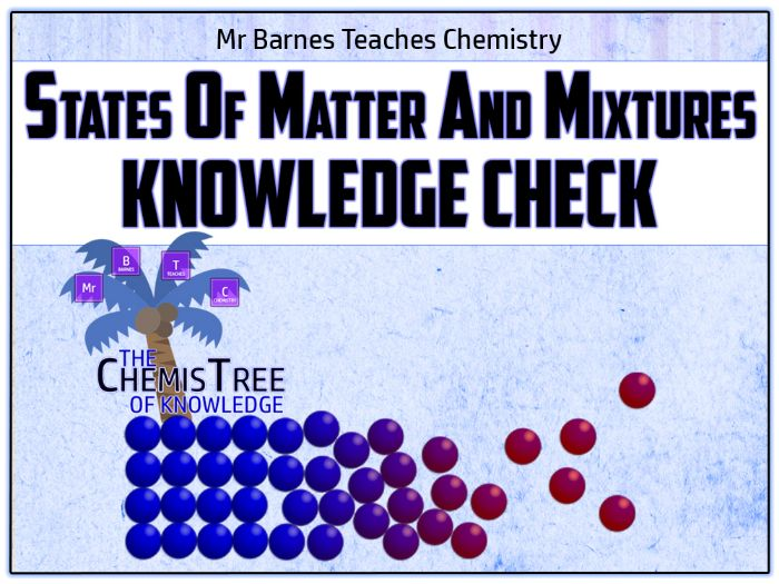 GCSE Chemistry 9-1: States of Matter and Mixtures Knowledge Check
