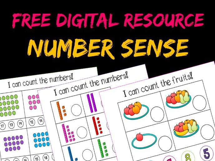 Counting and Numbers Interactive  - First time buyers get free ( Use discount code GETCRAFTY )