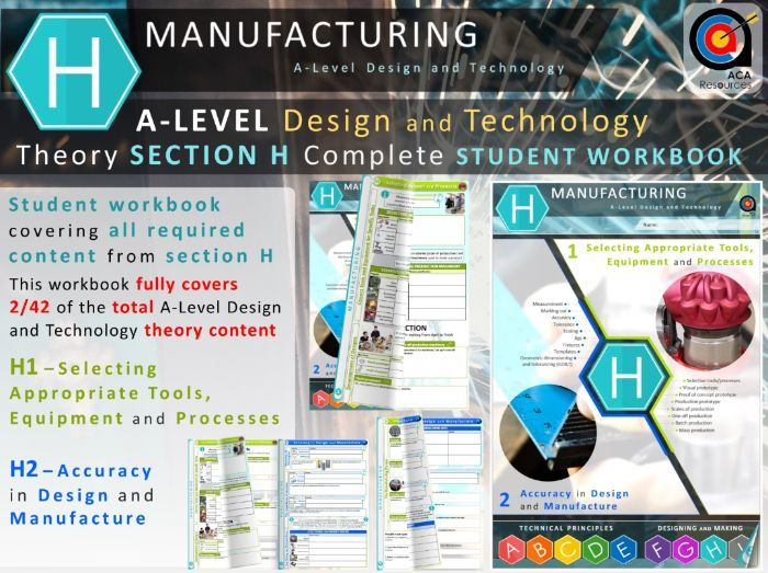 A-Level DT Theory - Complete SECTION H - Workbook - Manufacturing