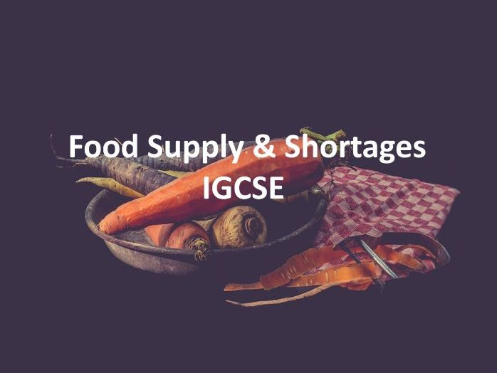 Food supply and shortages