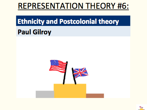 Ethnicity and Postcolonial theory - Paul Gilroy (representation theory #6)