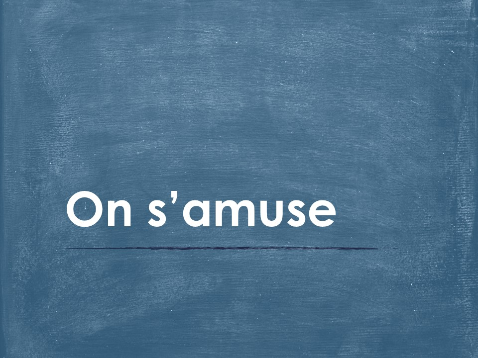 On s'amuse (French Entertainment) Vocabulary PowerPoint