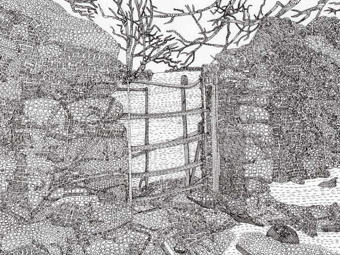 Farming: Dry Stone Wall and Gate: Lake District