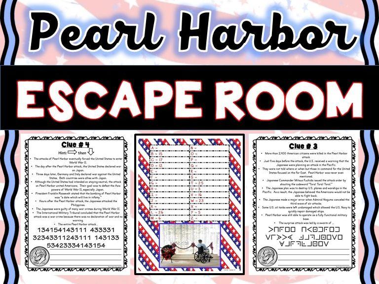 Pearl Harbor Escape Room - No Prep!