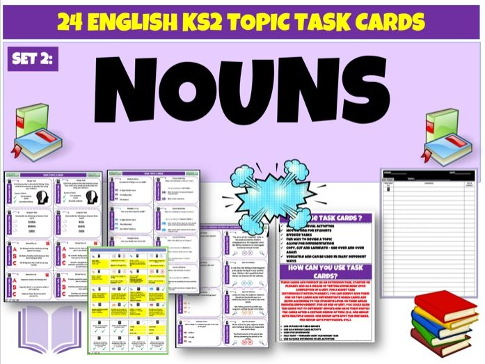Nouns Set 2 - English Task Cards