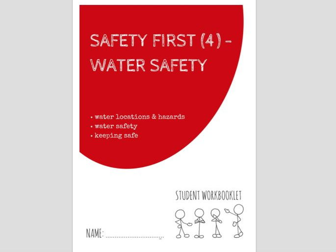 SPECIAL EDUCATION - SAFETY FIRST (4) - WATER SAFETY workbooklet