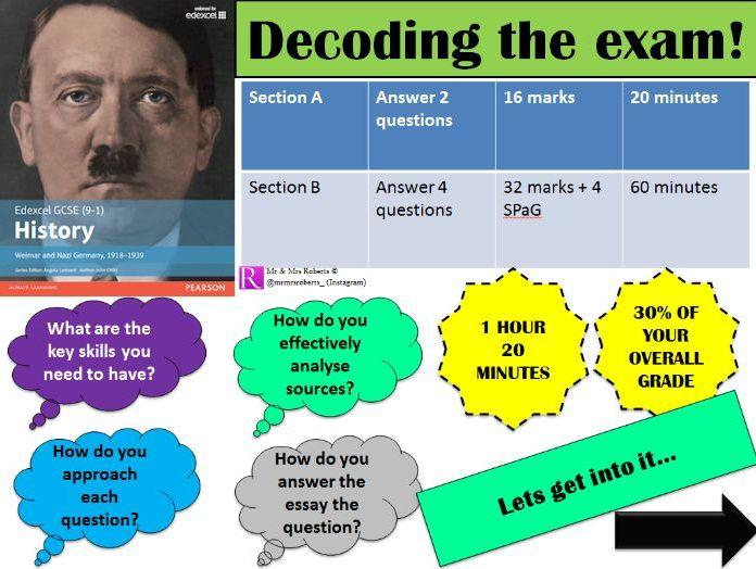 Decoding the exam - Edexcel GCSE History - Paper 3: Weimar & Nazi Germany
