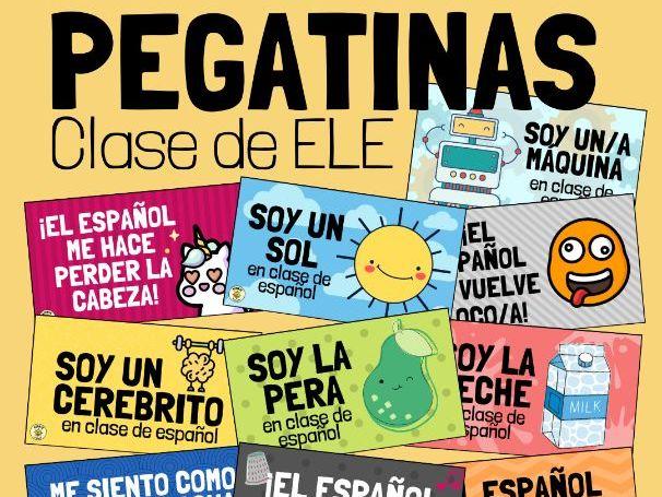 Pegatinas/ tarjetas para la clase de español - Frases hechas, Spanish idioms
