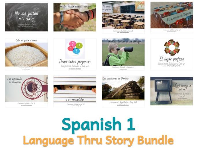 Spanish 1 - Story Bundle - Complements Realidades 1 (Save 25%!)