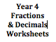 Fractions & Decimals Worksheets - Year 4