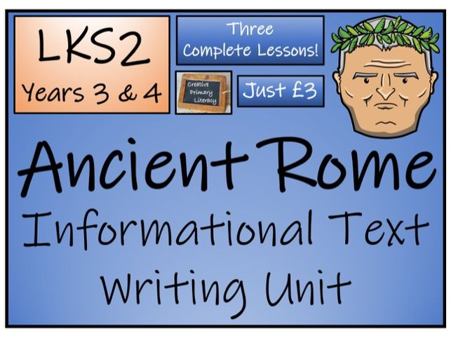 LKS2 History - Ancient Rome Informational Text Writing Activity