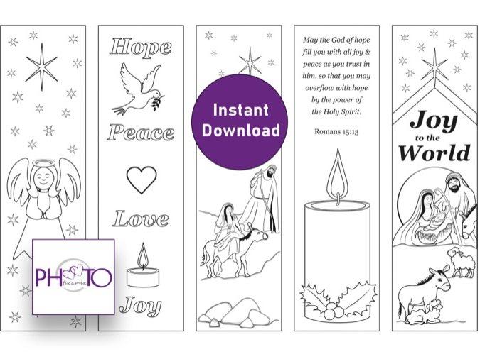 Nativity Colouring Bookmarks