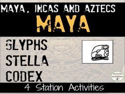 Mayan Glyphs for study of the Ancient Maya