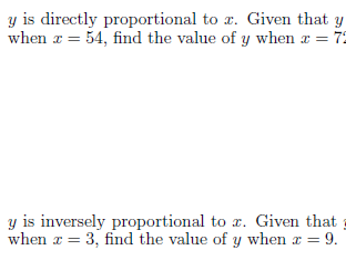 Direct and inverse proportion worksheet no 2 (with solutions)