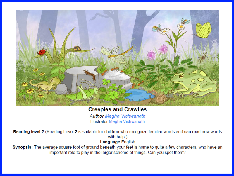 Can you spot it? Creepies and Crawlies - Reading Level 2.