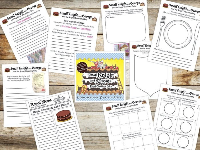 Story Activity Pack - Small Knight and George and the Royal Chocolate Cake