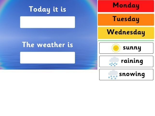 Days of the Week and Weather Colourful Display Pack