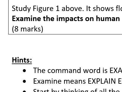 """Examine"" 8-mark flooding question task"