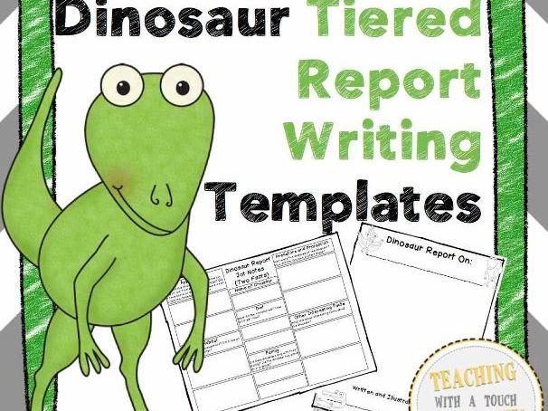 Dinosaur Report: Tiered Report Writing Templates