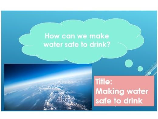 AQA GCSE Chemistry - C14 – Making Water Safe to Drink