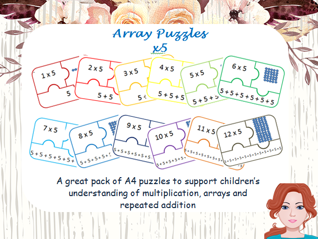 Array Puzzle and repeated addition x5