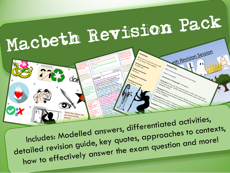 Macbeth GCSE 9-1 Exam Practice / Revision