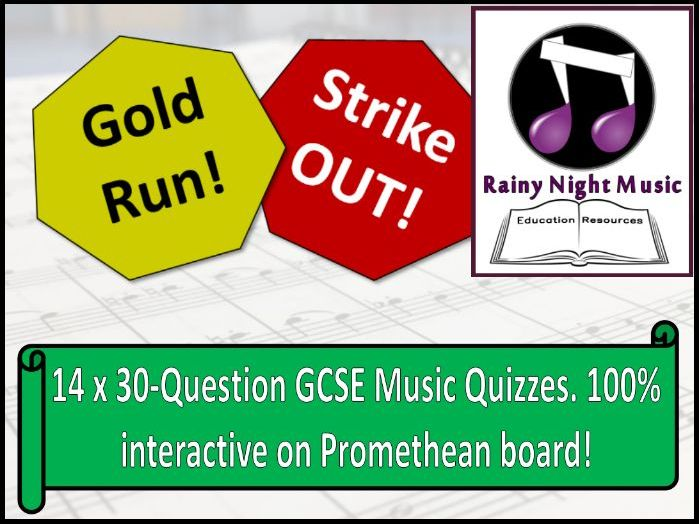 End of Term GCSE Music Activities Fun Quizzes for Revision AQA Edexcel OCR Eduqas