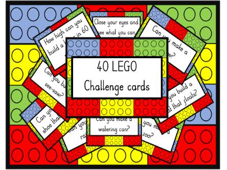 40 LEGO Challenge cards