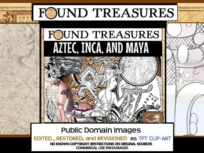 Found Treasures: Aztec Inca Maya ClipArt-50 Pieces!