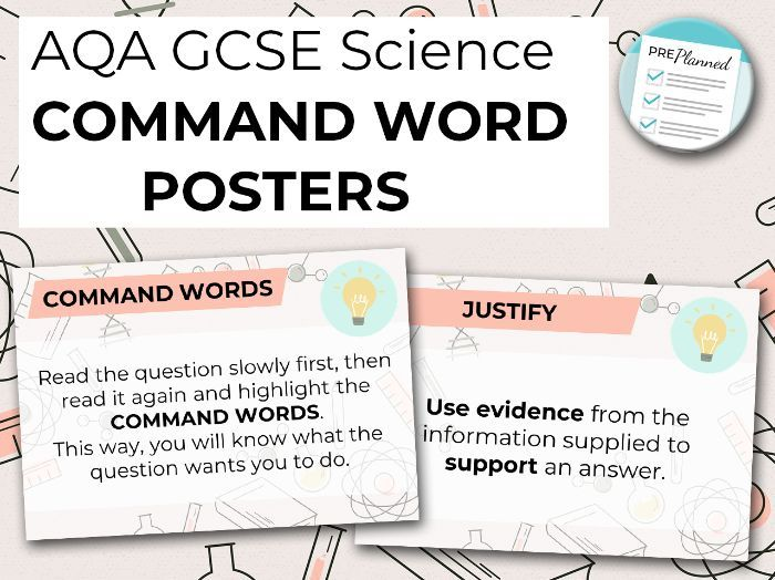 AQA GCSE Science Command Word Posters