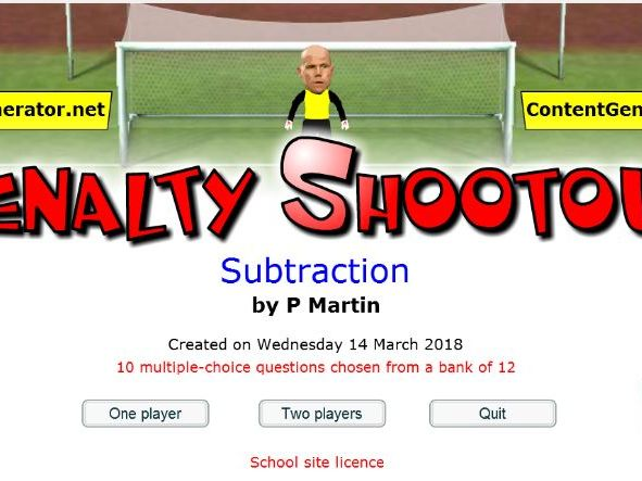 Subtraction -Starter or Plenary