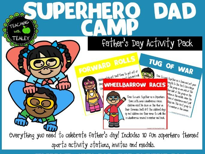 Father's Day Games and Activities - Superhero Dad Camp