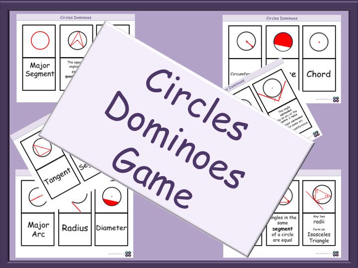 Circles Dominoes Game - GCSE