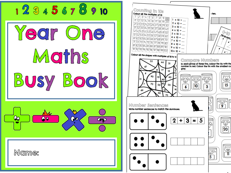 Year One Maths Busy Book (Over 30 pages of fun maths activities!)