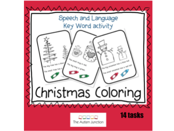 Christmas Coloring Key Word activity