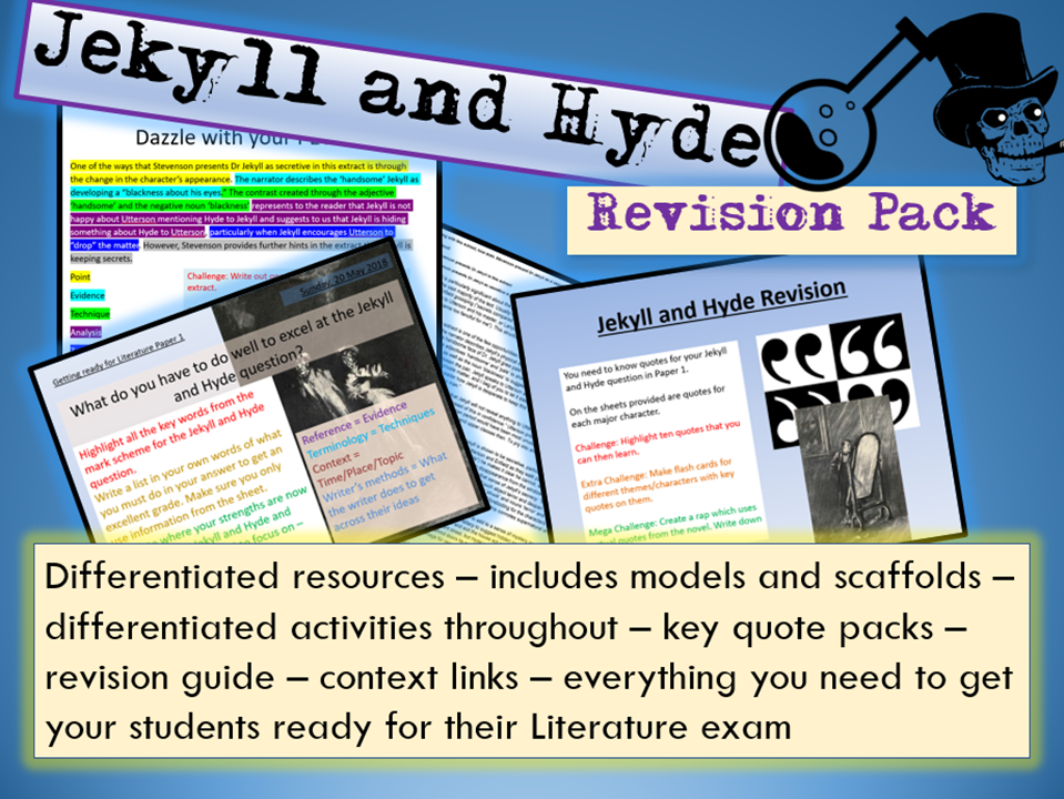 Jekyll and Hyde GCSE 9-1 Exam Practice / Revision