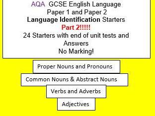 AQA GCSE English Language Paper 1 and 2 Language Identification Starters Part 2!