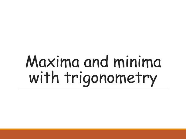 Maxima, minima and inflexion points of trigonometric functions