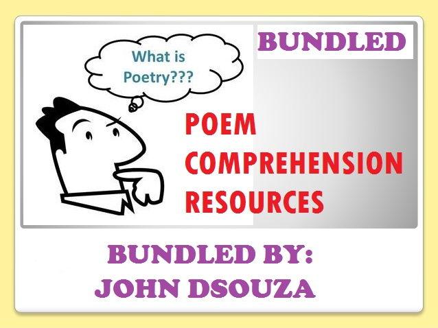 POEM COMPREHENSION RESOURCES: BUNDLE