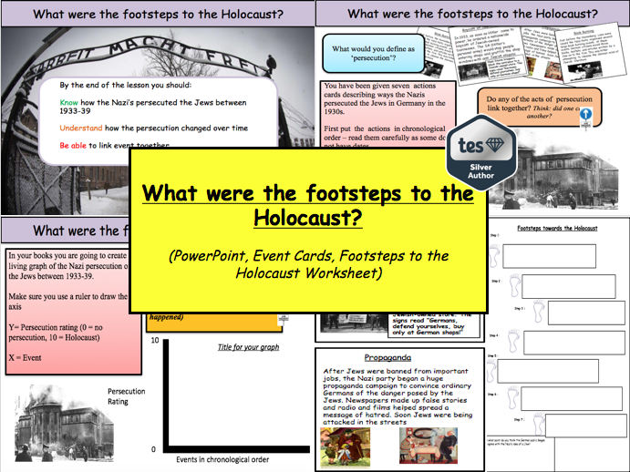 What were the footsteps to the Holocaust?