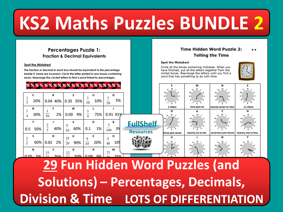 Maths Puzzles 2 (Worksheets)