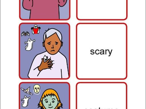 AUSLAN HALLOWEEN POSTER, FLASHCARDS & ACTIVITIES (Australian Sign Language)