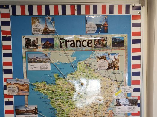 French Cities Display